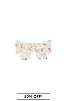 Baby Girls Cream Cotton Headband