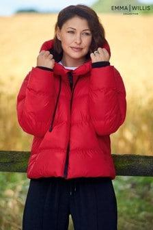 Red Emma Willis Rubber Puffer Coat