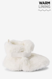 White Cosy Pram Booties (0-18mths)