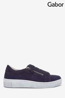 Gabor Blue Wisdom tte Suede Casual Shoes