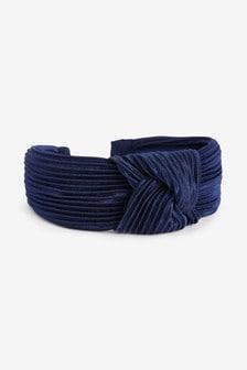 Navy Stripe Cord Headband