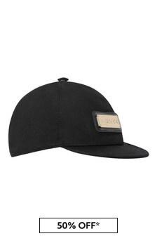 Boys Black Logo Hat