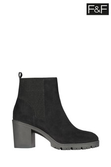 F&F Black Cleat Sole Boots