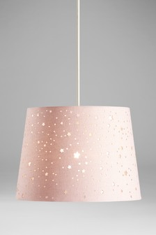 Buy lighting ceiling lights pink lamp shades lampshades pink easy fit cut out star shade aloadofball Images