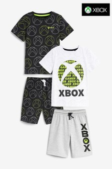 Monochrome Xbox 2 Pack Short Pyjamas (5-16yrs)
