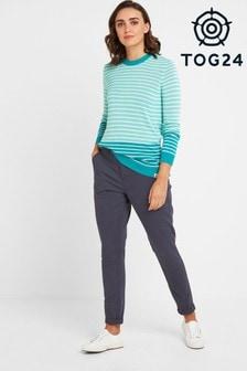 Tog 24 Womens Blue Pickering Regular Chino Trousers