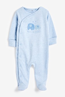 Pale Blue Born In 2020 Sleepsuit (0-9mths)