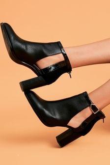 Black Forever Comfort® Open Side Shoe Boots