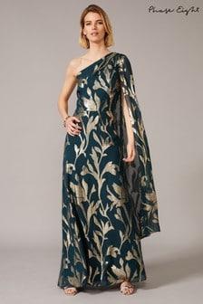 Phase Eight Green Kiara Shimmer Drape Dress