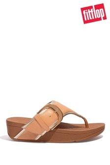 FitFlop Nude Olive Mixed Metallics Toe-Post Sandals