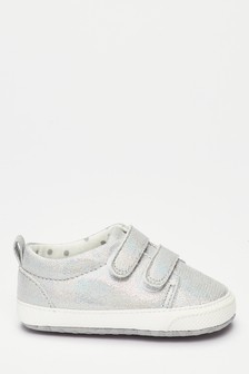Silver Pram Trainers (0-18mths)