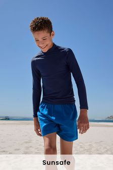 Navy Long Sleeve Sunsafe Rash Vest (1.5-16yrs)