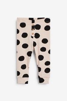 Monochrome Spot Organic Cotton Leggings (3mths-7yrs)