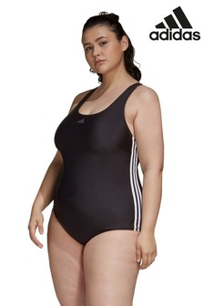 adidas Curve 3 Stripe Fit Swimsuit