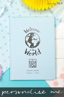 Personalised Welcome To The World Hardback Book by Signature Book Publishing