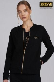 Barbour® International Black Cotton Jersey Minato Jacket