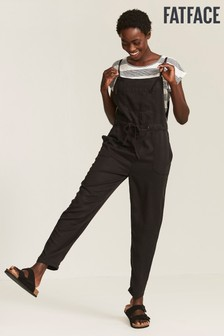 FatFace Black Ellis Tencel Jumpsuit