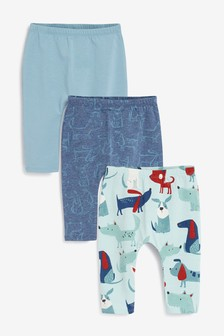 Blue Dog 3 Pack Whale Stretch Leggings (0mths-3yrs)