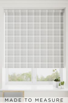 Cosy Check Grey Made To Measure Roller Blind