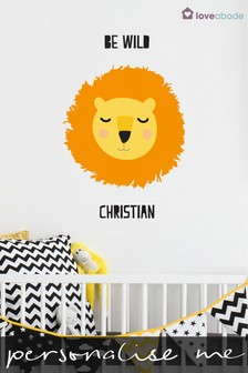 Personalised Lion Wall Sticker by Loveabode