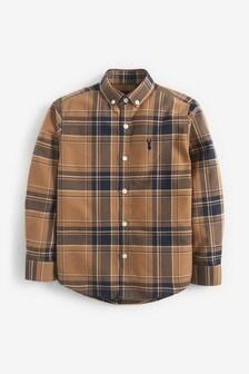 Neutral Check Long Sleeve Oxford Shirt (3-16yrs)