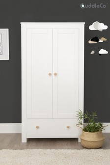 White Ash Aylesbury 2 Door Double Wardrobe by CuddleCo