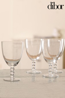 4 Beaded Water Glasses by Dibor