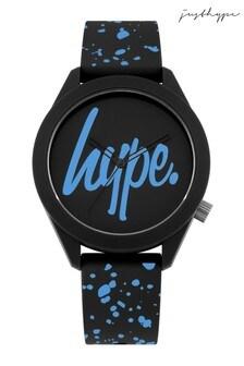 Hype. Cyan Speckle Script Watch