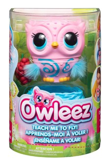 Owleez Flying Interactive Baby Owl- Pink
