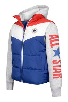 Boys Grey All Star Padded Vest Jacket