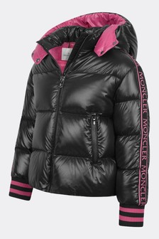 Girls Black Down Padded Azzurra Jacket