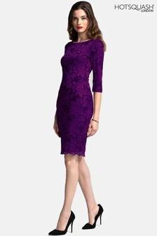 HotSquash Purple Long Sleeved Lace Dress