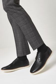 Black Cupsole Derby Shoes