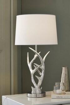 Antler Chrome Table Lamp