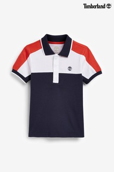 Timberland® Navy Colourblock Logo Polo