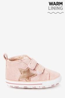 Pink Touch Fastening Pram Boots (0-18mths)