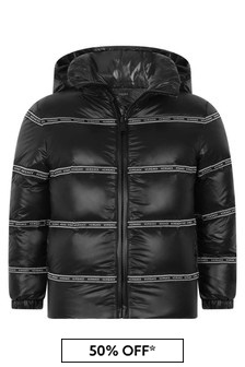 Boys Black Down Padded Jacket
