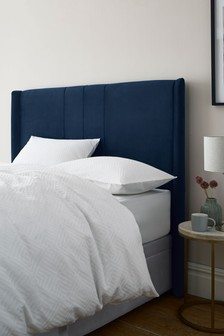 Dark Navy Miya Panelled Headboard