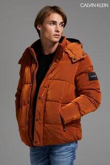 Calvin Klein Brown Crinkle Nylon Jacket