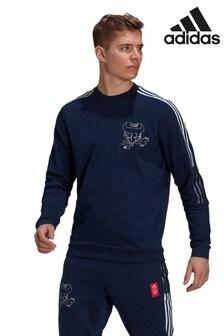 adidas Navy Arsenal Crew Sweat Top