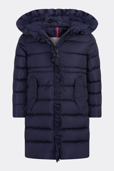 Girls Navy Down Padded Coat