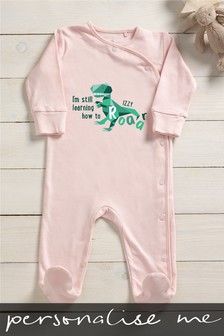 Personalised I'm Still Learning How To Roar Sleepsuit