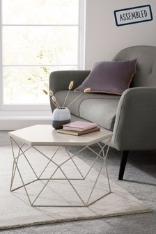 Grey Hexagon Coffee Table