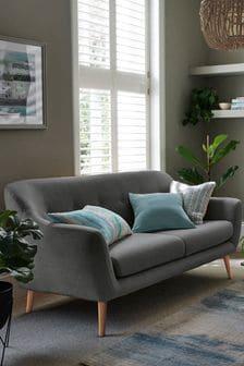 Soft Marl Dark Grey Lacey Small Sofa With Light Legs