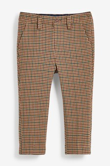 Tan Check Formal Trousers (3mths-7yrs)