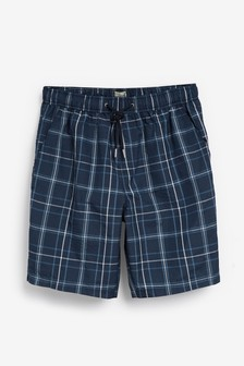 Navy/White Check Swim Shorts