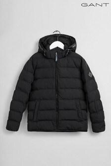 GANT Black Lock-Up Stripe Padded Jacket