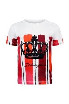 Dolce & Gabbana Kids Dolce & Gabbana Baby Boys Red Cotton T-Shirt