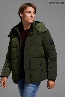 Calvin Klein Green Crinkle Nylon Jacket