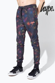 Hype. Multicolour Spray Print Joggers